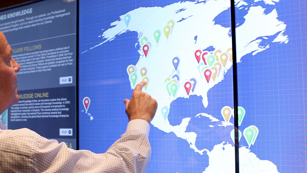 T1V Interactive Map - multitouch software