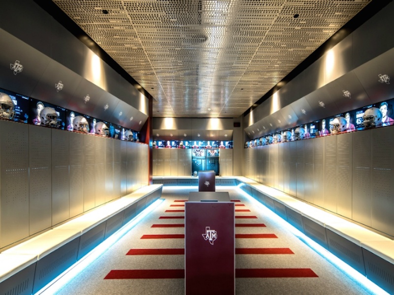 T1V Texas A&M Touchscreen Interactive Wall Locker Room
