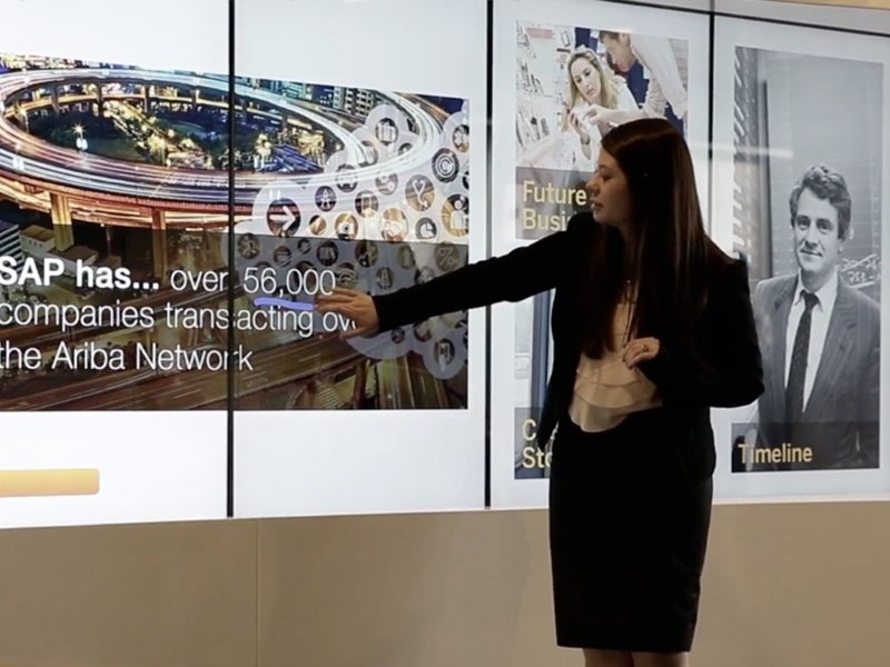 T1V SAP Touch Screen Interactive Enterprise Wall