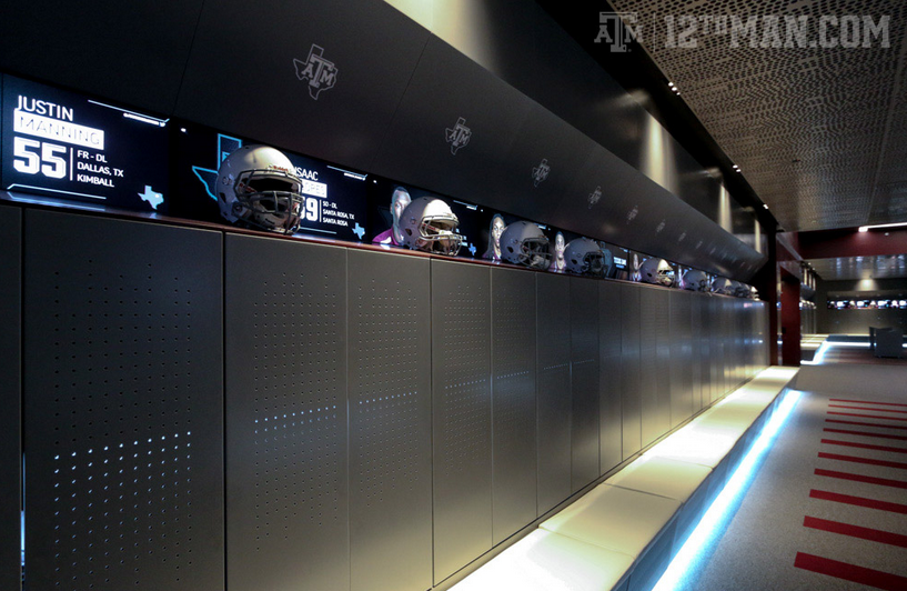 Texas A&M Locker Room with T1V CMS