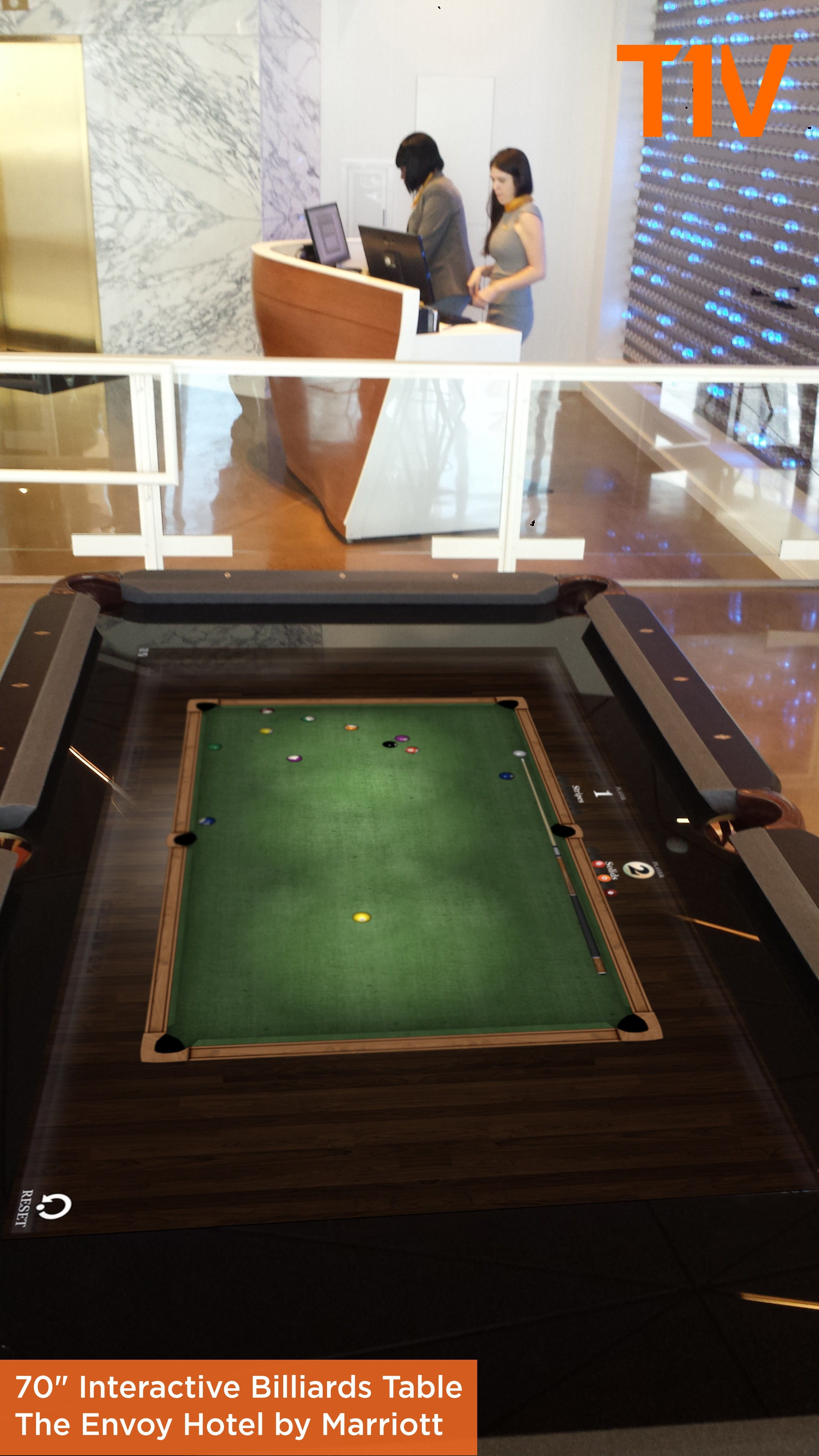 Fish tank pool table - T1v Interactive Pool Table With Captions Jpg